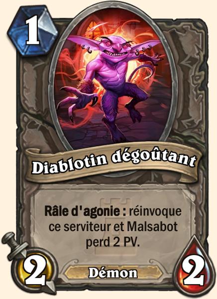 Carte Hearthstone - Diablotin dégoûtant (Héroïque) - Terestrian Malsabot