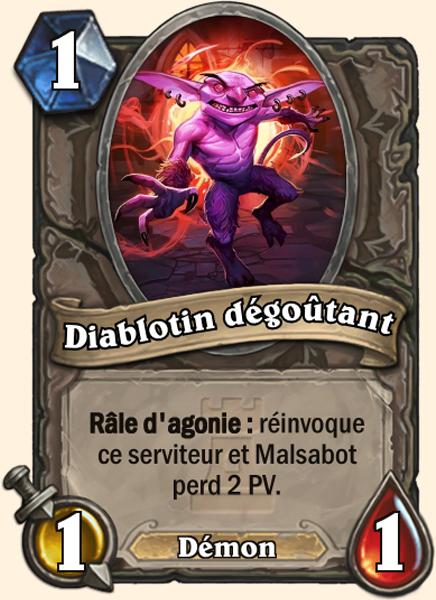 Carte Hearthstone - Diablotin dégoûtant (Normal) - Terestrian Malsabot