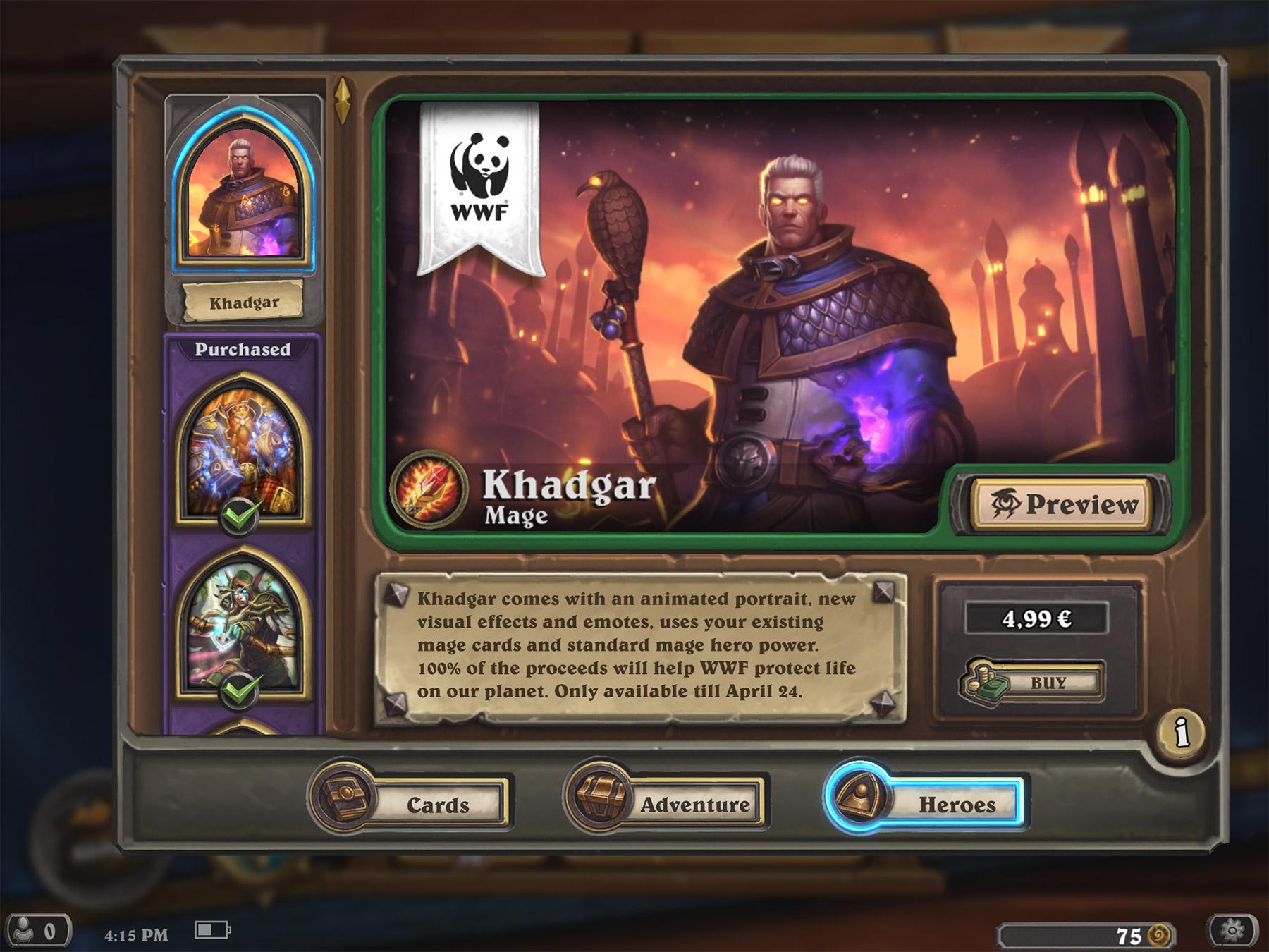 Khadgar est troisième héros disponible pour les Mages