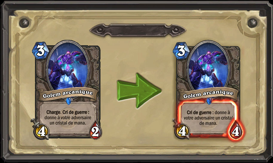 Nerf carte Hearthstone Golem arcanique