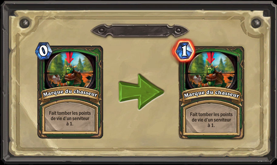 Nerf carte Hearthstone Marque du Chasseur