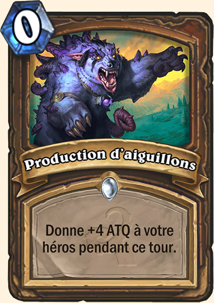 Production d'aiguillons carte Hearthstone