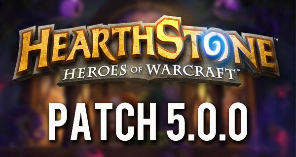 patch 5.0.0 : nouveaux dos de cartes, bras de fer et nerfs