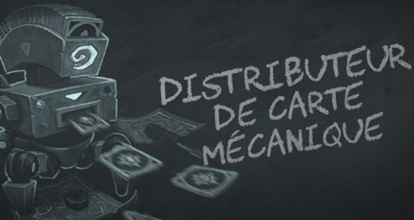 bras de fer : distributeur de carte mecanique standard