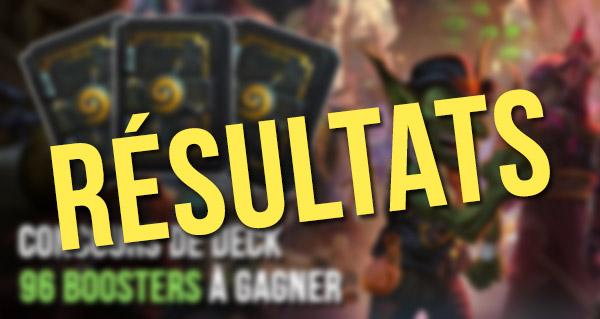 concours de decks gadgetzan : les resultats
