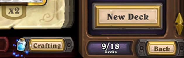 Vous pourrez avoir 18 decks dans Hearthstone !