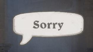 Emote Sorry sur Overwatch