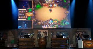 La scène retransmettant en direct la compétition
