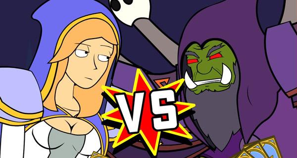 video d'animation hearthstone : jaina vs gul'dan