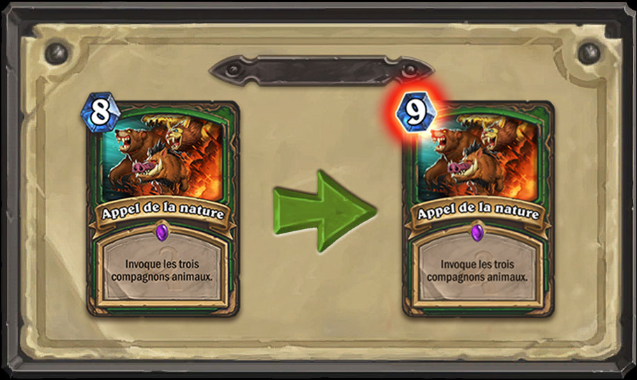 Modification carte Hearthstone Appel de la nature