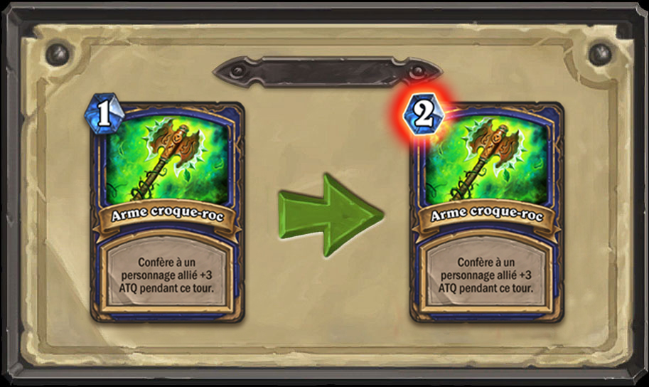Modification carte Hearthstone Arme croque-roc