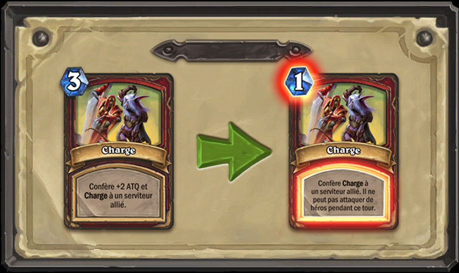 Modification carte Hearthstone Charge