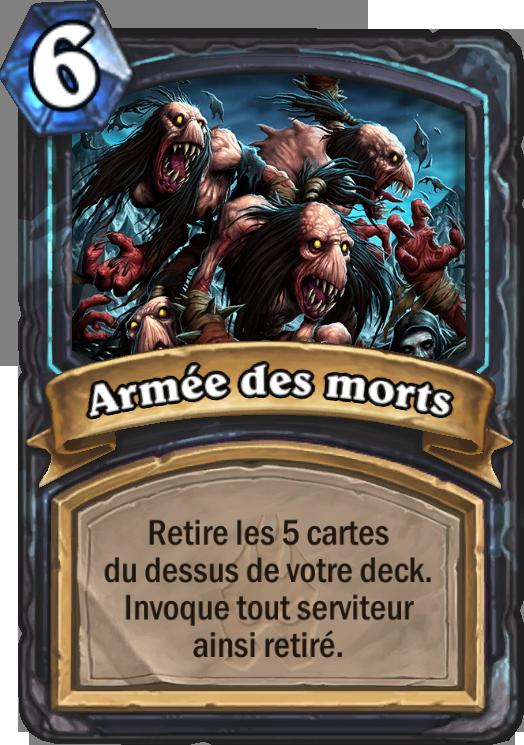 Carte Hearthstone Armée des morts (Chevalier de la mort)