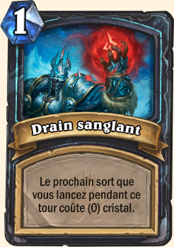 Carte Hearthstone Drain sanglant (Chevalier de la mort)