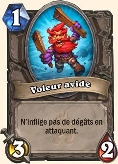 Carte Hearthstone Voleur avide (Carte Tirion)