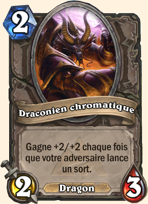 Carte Hearthstone Draconien chromatique