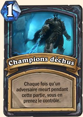 Carte Hearthstone Champions déchus
