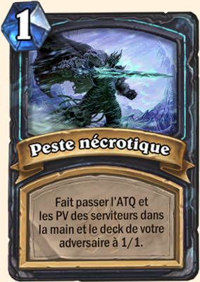 Carte Hearthstone Peste nécrotique