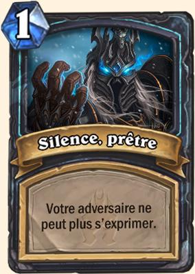 Carte Hearthstone Silence, prêtre