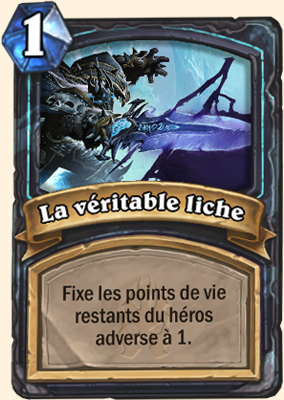 Carte Hearthstone La véritable liche