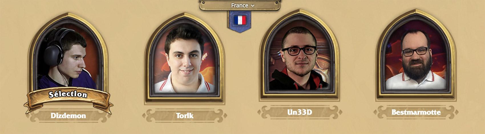 La composition de l'équipe de France des Hearthstone GG