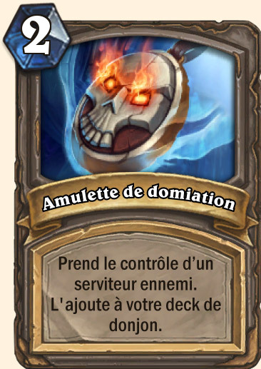 Carte Hearthstone - Amulette de domination