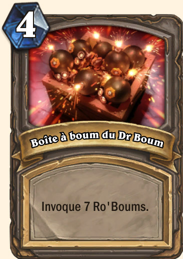 Carte Hearthstone - Boîte à boum du Dr Boum