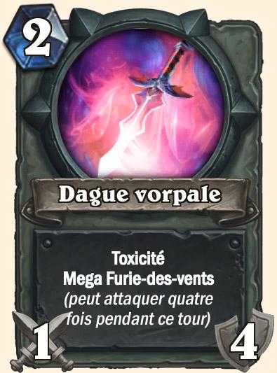 Carte Hearthstone - Dague vorpale
