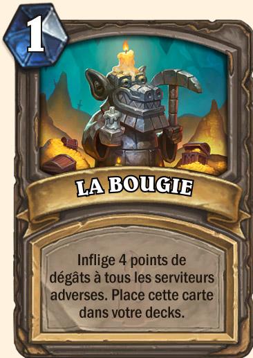 Carte Hearthstone - LA BOUGIE
