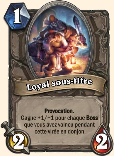 Carte Hearthstone - Loyal sous-fifre
