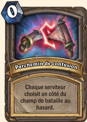 Carte Hearthstone - Parchemin de confusion