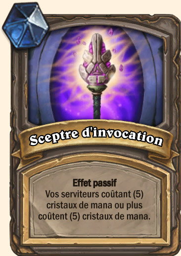 Carte Hearthstone - Sceptre d'invocation