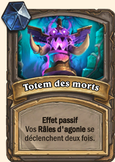 Carte Hearthstone - Totem des morts