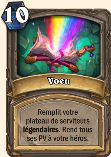 Carte Hearthstone - Voeu