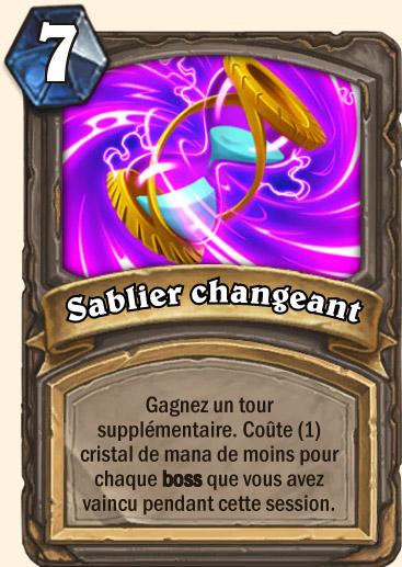 Carte Hearthstone - Sablier changeant