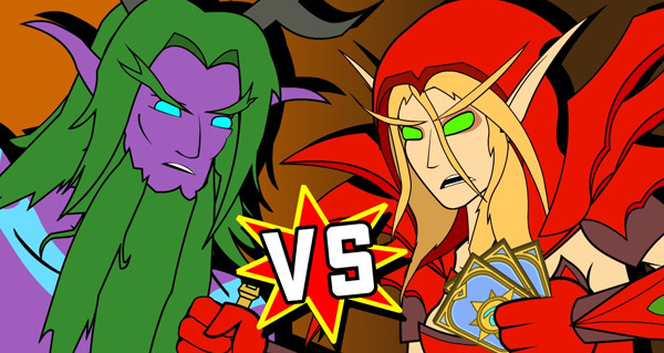 video d'animation hearthstone : malfurion vs valeera