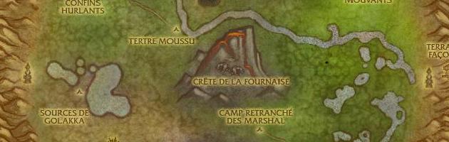 La carte du Cratère d