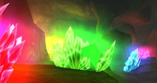 Une caverne de cristaux de puissance