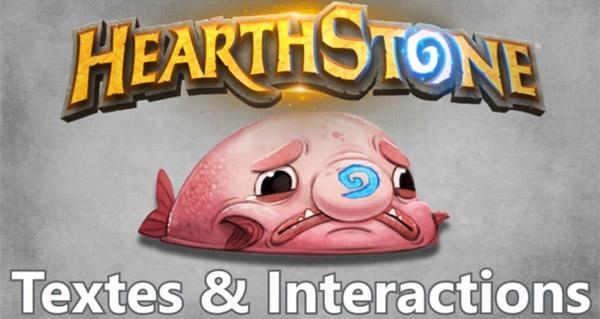 guide des textes et interactions dans hearthstone