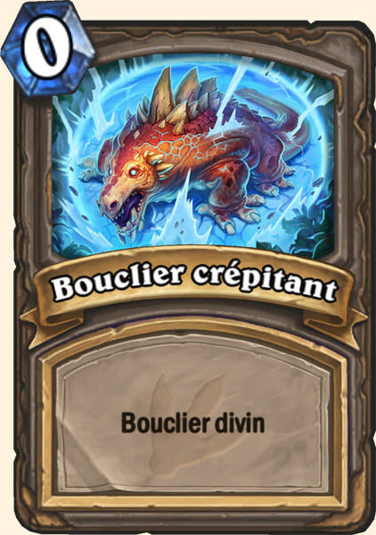 Carte adaptation Bouclier crépitant Hearthstone