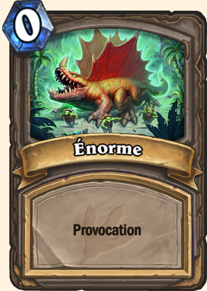 Carte adaptation Enorme Hearthstone