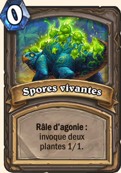Carte adaptation Spores vivantes Hearthstone