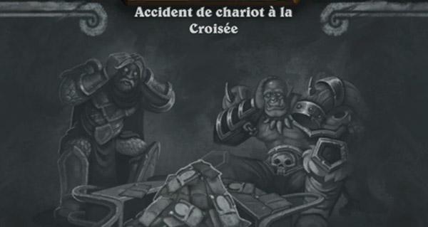 bras de fer : accident de chariot a la croisee