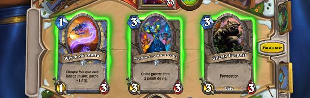 Chaque tour, choisissez une carte de votre deck