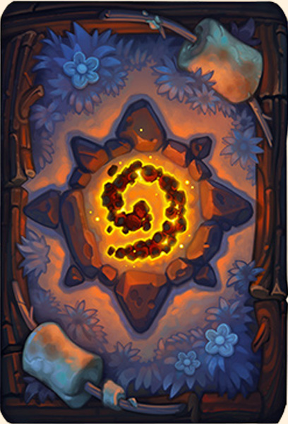 Dos de carte Hearthstone - Feu de camp