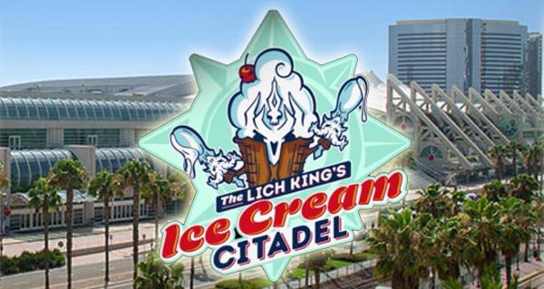 trone de glace : citadelle de la creme glacee pour le san diego comic-con