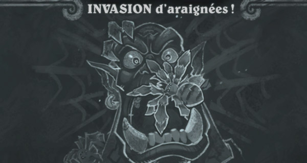 bras de fer hebdomadaire : invasion d'araignees