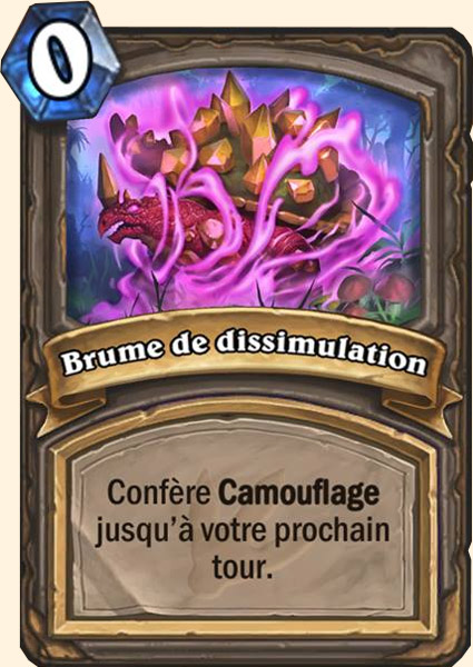 Carte adaptation Brume de dissimulation Hearthstone