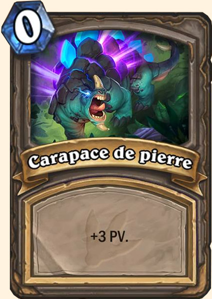 Carte adaptation Carapace de pierre Hearthstone
