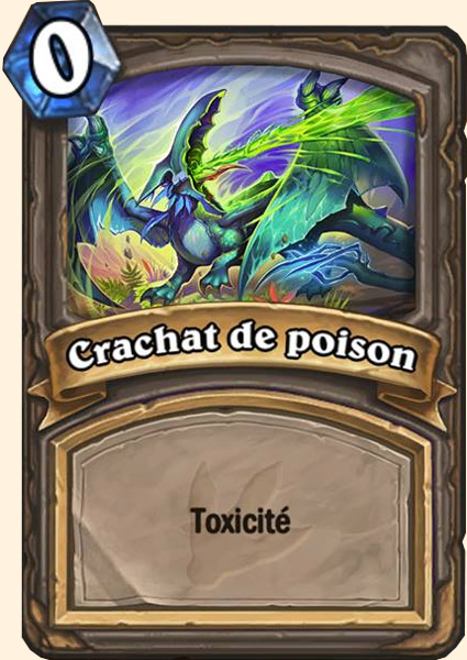 Carte adaptation Crachat de poison Hearthstone